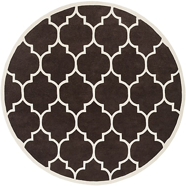 Artistic Weavers Transit Brown Geometric Piper Area Rug; Round 3'6''