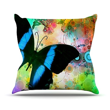 KESS InHouse Colorful by alyZen Moonshadow Butterfly Throw Pillow; 26'' H x 26'' W x 1'' D