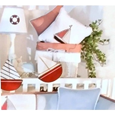 Brandee Danielle Sail Away Cotton Decorator Pillow