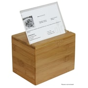 Oceanstar Design Bamboo Recipe Box w/ Divider