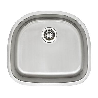 Blanco Stellar 23.38'' x 20.87'' D Shaped Single Bowl Kitchen Sink