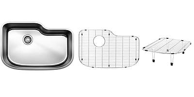 Blanco One 30'' x 20'' Multi-Level Single Kit Kitchen Sink WYF078277771345
