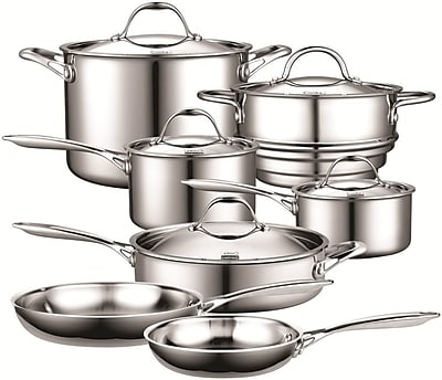 Cooks Standard 12 Piece Multi-Ply Clad Stainless-Steel