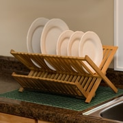 Drymate Kitchen Dry Bamboo Weave Placemat; Green