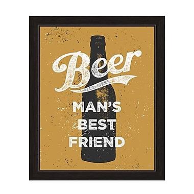 Click Wall Art Beer Man's Best Friend Framed Textual Art; 13'' H x 11'' W