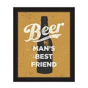 Click Wall Art Beer Man's Best Friend Framed Textual Art; 27'' H x 23'' W x 1'' D