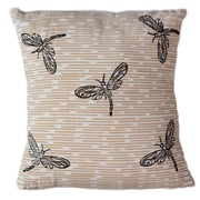 Sustainable Threads Dragonflies Cotton Throw Pillow; 12'' H x 12'' W