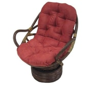 International Caravan Rattan Swivel Papasan Chair; Cardinal Red