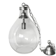 White x White Demijohn 1-Light Globe Pendant; Medium