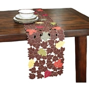 Xia Home Fashions Forest Blanket w/ Poly-Suede Cutwork Table Runner; 70'' W x 13'' L