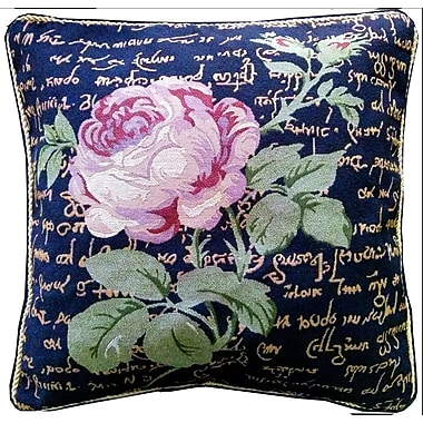 Tache Home Fashion Solitary Rose Cushion Cover (Set of 2)