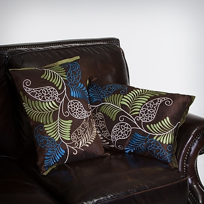 Home Loft Concepts Yasmeen ferns Throw Pillow (Set of 2)