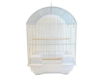YML Round Dome Top Bird Cage; White WYF078276286666