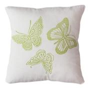 Sustainable Threads Butterflies Indoor/Outdoor Throw Pillow; 12'' H x 12'' W