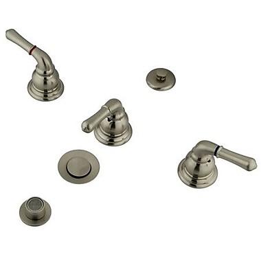 Elements of Design Triple Handle Vertical Spray Bidet Faucet; Satin Nickel