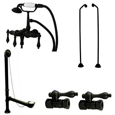 Kingston Brass Vintage Wall Mount Down Spout Clawfoot Tub Faucet Package