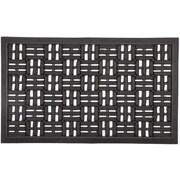 Entryways Recycled Rubber Scraper Doormat
