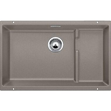 Blanco Precis 27.5'' x 18.13'' Cascade Single Kitchen Sink; Truffle