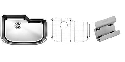 Blanco One 30'' x 20'' Organized Single Kit Kitchen Sink WYF078277771341