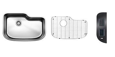 Blanco One 30'' x 20'' Safety Single Kit Kitchen Sink WYF078277771342