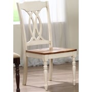 Iconic Furniture Transitional Solid Wood Dining Chair (Set of 2); Caramel / Biscotti