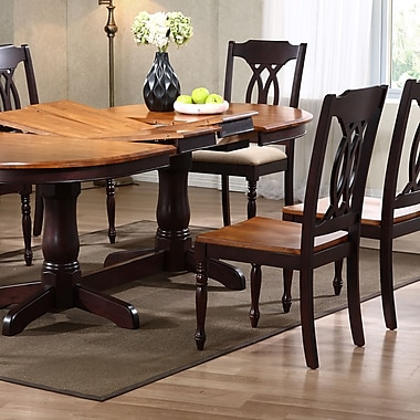 Iconic Furniture Transitional Solid Wood Dining Chair (Set of 2); Whiskey / Mocha