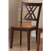Iconic Furniture Solid Wood Dining Chair (Set of 2); Whiskey / Mocha
