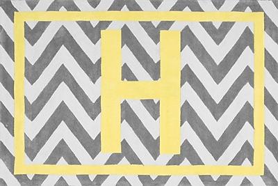 nuLOOM Cine Chevron Yellow Monogrammed Area Rug; H