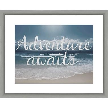 PTM Images Inspirational Adventure Awaits Framed Graphic Art
