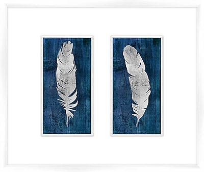 PTM Images Feather 2 Piece Framed Graphic Art Set