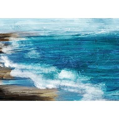 PTM Images Coastal Coastline Painting Print on Wrapped Canvas