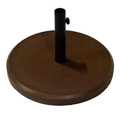 Wildon Home Fiberstone Umbrella Base; Bronze