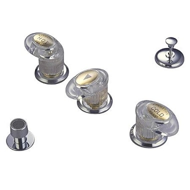 Elements of Design Triple Triple Handle Vertical Spray Bidet Faucet; Satin Nickel