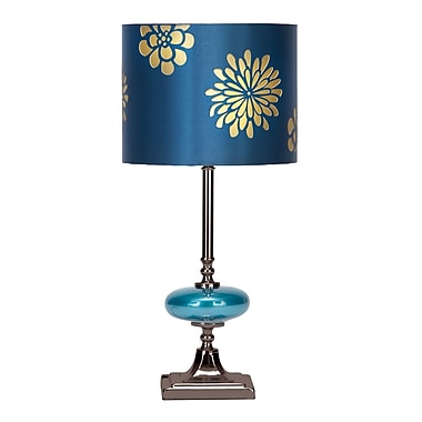 Cole & Grey 19'' Table Lamp (Set of 2); Blue