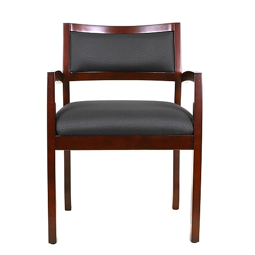 Eurotech WGF-CH Cypress Fabric Guest Chair, Fixed Arm, Cherry