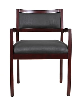 Eurotech Cypress Wood Computer and Desk Office Chair, Fixed Arms, Mahogany (WGF-MAH)