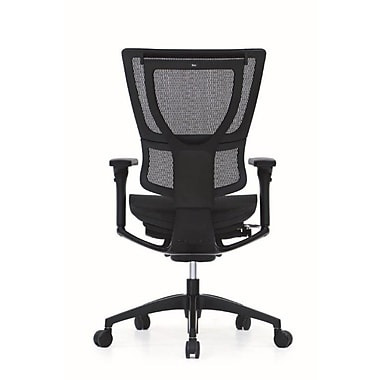 Eurotech IOO-BLK iOO Mesh Executive Chair, Adjustable Arms, Black