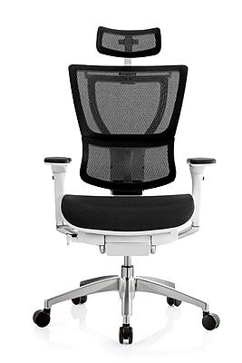 Eurotech iOO Ergonomic Mesh Chair Headrest, White (Headrest Only)