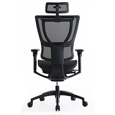 eurotech ioo ergonomic mesh chair headrest, black (headrest only