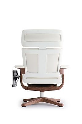 Eurotech NUVEM-WHT Nuvem Leather Executive Chair, Fixed Arms, White