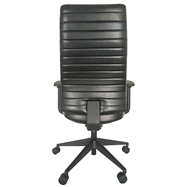 Eurotech LE800-BLKL-AA1 Frasso Leather Conference Chair, Adjustable Arms, Black