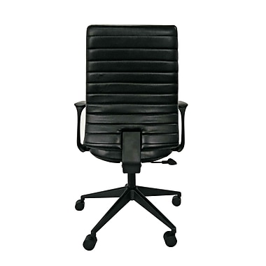 Eurotech LEM801-BLKL-LA1 Frasso Leather Conference Chair, Fixed Arms, Black