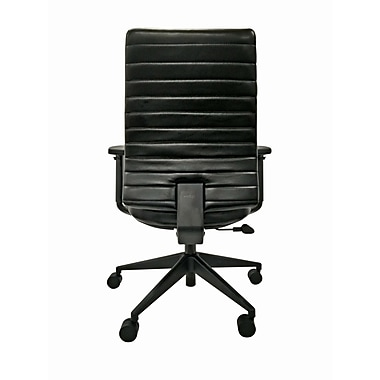 Eurotech LEM801-BLKL-AA1 Frasso Leather Conference Chair, Adjustable Arms, Black