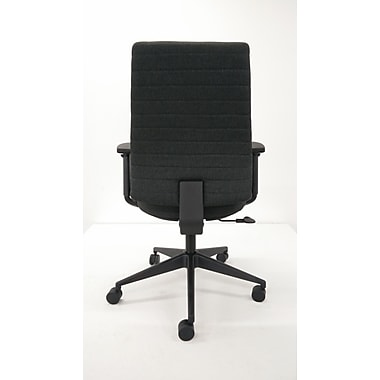 Eurotech FM801-COAL-AA1 Frasso Fabric Conference Chair, Adjustable Arms, Coal