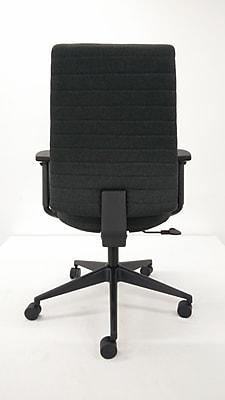 Eurotech Frasso Fabric Conference Office Chair, Adjustable Arms, Coal (FM801-COAL-AA1)