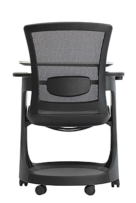 Eurotech Eduskate Fabric Conference Office Chair, Fixed Arms, Black (SKTRN-BLK)