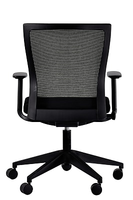 Eurotech Curv Fabric Computer and Desk Office Chair, Adjustable Arms, Black (CURV-MFBLK)
