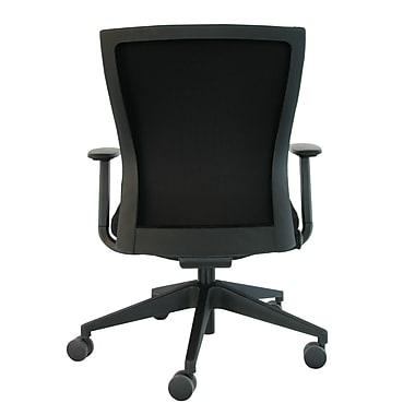 Eurotech CURV-BLKFF Curv Fabric Task Chair Adjustable Arms Black