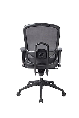 Eurotech Leather Computer and Desk Office Chair, Adjustable Arms, Black (ML160A-BLK)