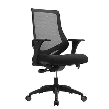 Eurotech MF2000-BLK Astra Fabric Task Chair, Adjustable Arm, Black